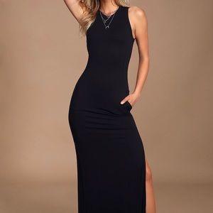 Lulus Black Sleeveless Maxi Dress